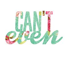 Like, I Can't Even Vintage Green Floral Print Design by hellosailortees