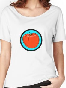 TOMATO RED Women's Relaxed Fit T-Shirt
