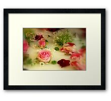Thank You - Pretty Flowers - JUSTART ©  Framed Print
