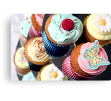 Cupcake Tier - lots of lovely cupcakes Canvas Print
