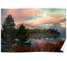 Peaceful Oxbow Bend Poster