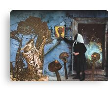 Baba Yaga Gives Vasilisa the Beautiful The Power To Blow The Heads Off Her Foes Canvas Print