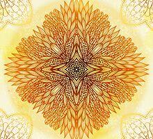 Golden mandala by Patternalized