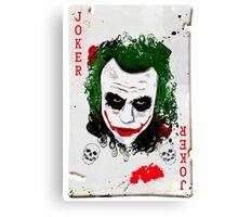 The Joker Card Canvas Print