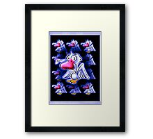 meh...the art of modern day language... Framed Print