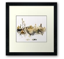 New York City skyline Framed Print