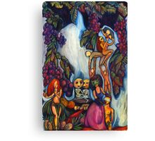 Surreal Colorful Drawing About Gluttony Canvas Print