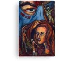 Angry Woman Canvas Print