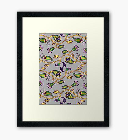 Alien Flowers Framed Print