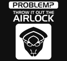 Throw it Out the Airlock in White by vhkolb