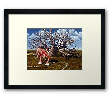 Nurble's Nervousness Framed Print