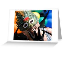 Behind the Mask Greeting Card