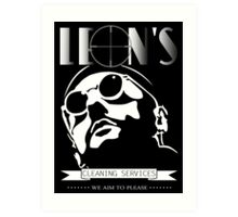 Leon's cleaning services. Art Print