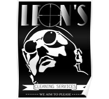 Leon's cleaning services. Poster