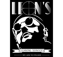 Leon's cleaning services. Photographic Print