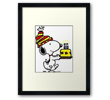 Happy birthday Snoopy Framed Print