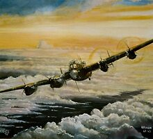 Lancaster 101Squadron by Woodie
