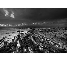 Coastal Geographical mono  Photographic Print