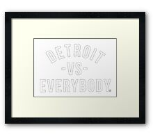 detroit vs everybody Framed Print