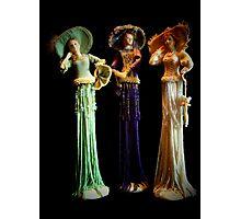 Three Victorian Ladies Photographic Print