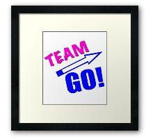 Eric Andre- Team Go Shirt Framed Print
