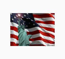 Lady Liberty and Old Glory Unisex T-Shirt