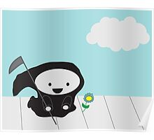 Grim Reaper and Flower Poster
