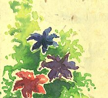 Watercolour flower by Rashmita & Raj