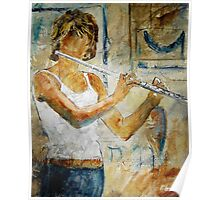The flutist Poster