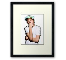 Bo Burnham Flower crown Framed Print