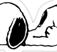 Snoopy boring Sticker