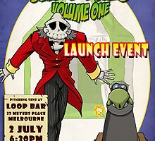 Sawbones Launch poster: Bones edition w/text by Sockpuppet