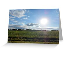 Countryside Landscape in the United States of America Greeting Card