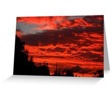 Blazing Sunset Greeting Card