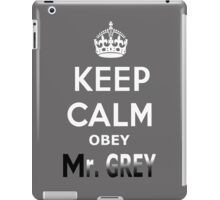 Keep Calm Obey Mr. Grey iPad Case/Skin