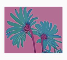 Pink and Teal Blue Flower Pop Art Abstract Color Design Kids Clothes