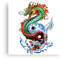 Dragon, Carp Canvas Print