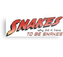 Snakes-Why did it have to be snakes?! Metal Print