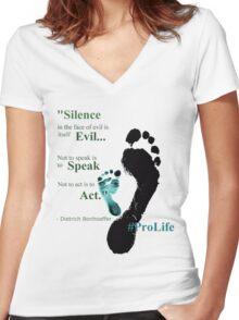 #ProLife Women's Fitted V-Neck T-Shirt