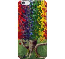 Whimsical Rainbow Money Tree  by Gretchen Smith iPhone Case/Skin