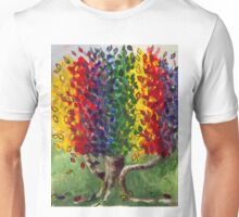 Whimsical Rainbow Money Tree  by Gretchen Smith Unisex T-Shirt