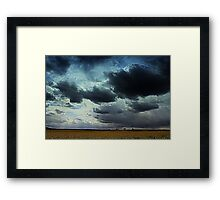 May Storms along the Teesdale way Trail , Northern England Framed Print