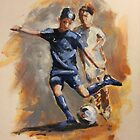 Playing soccer by Ivana Pinaffo