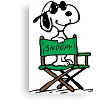 Snoopy director Canvas Print