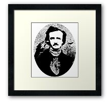 Poe with Ravens and Heart, rounded style Framed Print
