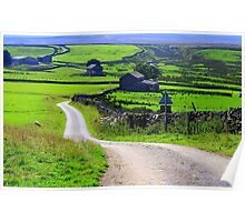 The Trail across Sleightholme Moor, North Pennines, England Poster