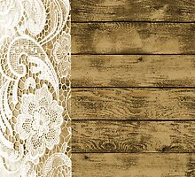 Western Country Barn Wood white Lace pattern by lfang77