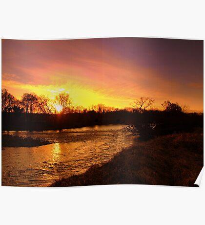 River of December Gold Poster