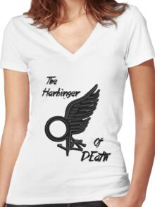 The Harbinger Of Death Women's Fitted V-Neck T-Shirt
