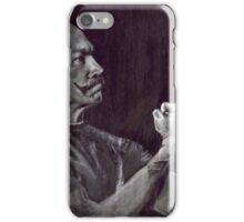 The Handsome Boxer and His Mustache By Gretchen Smith iPhone Case/Skin
